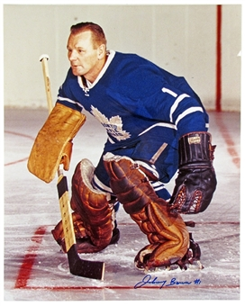 Johnny Bower Autographed Toronto Maple Leafs 16x20 Photo