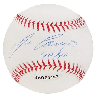 """Jose Canseco Autographed Official Major League Baseball """"40/40"""""""