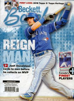 2015 Beckett Baseball Monthly Price Guide (#116 November) (Josh Donaldson)