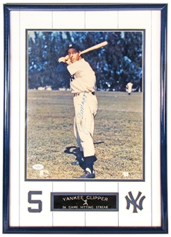 Joe DiMaggio Autographed New York Yankees 11x14 Framed Photo (JSA)