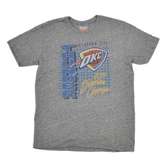 Oklahoma City Thunder Junk Food Gray Vintage Tee Shirt (Adult L)