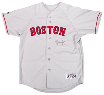 Jacoby Ellsbury Autographed Boston Red Sox Majestic Jersey (MLB & Mounted Memories)
