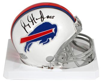 Jerry Hughes Autographed Buffalo Bills Mini Football Helmet