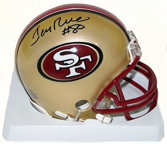 Jerry Rice Autographed San Francisco 49ers Riddell Mini Football Helmet