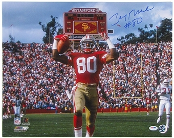 Jerry Rice Autographed San Francisco 49ers 16x20 Photo (PSA COA)