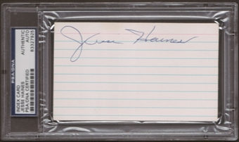 Jesse Haines Autograph (Index Card) PSA/DNA Certified *7925