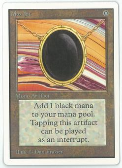 Magic the Gathering Unlimited Single Mox Jet - NEAR MINT (NM-)