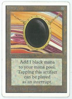 Magic the Gathering Unlimited Single Mox Jet - MODERATE PLAY (MP) + INKING