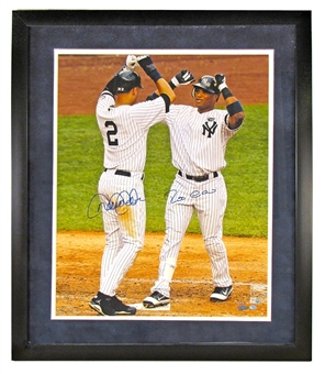Derek Jeter & Robinson Cano Autographed NY Yankees Framed 16x20 Photo (Steiner)