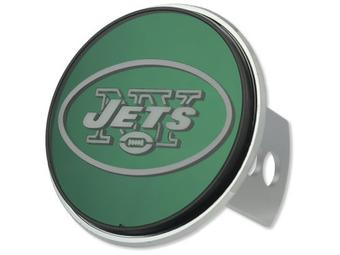 "New York Jets Rico Industries 4 "" Laser Trailer Hitch Cover"