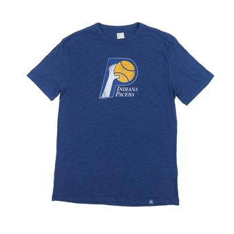 Indiana Pacers Majestic Blue Hours and Hours Dual Blend Tee Shirt