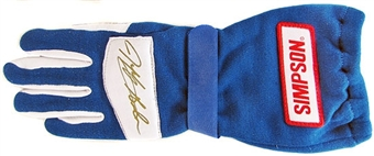 Jeff Gordon Autographed Racing Glove (PSA COA) - Left