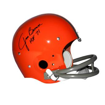 Jim Brown Autographed Cleveland Browns Authentic Full Size TK Suspension Helmet (Steiner)