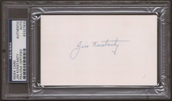 Jim Konstanty Autograph (Index Card) PSA/DNA Certified *7933