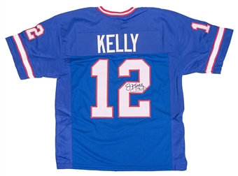 Jim Kelly Autographed Buffalo Bills Custom Blue Football Jersey DACW COA