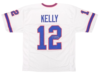Jim Kelly Autographed Buffalo Bills Custom White Football Jersey DACW COA