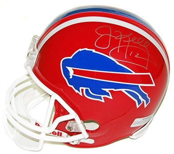 Jim Kelly Autographed Buffalo Bills Riddell Replica Football Helmet DACW COA