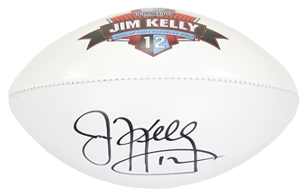 Jim Kelly Autographed Buffalo Bills Wilson Hall of Fame Inductee Football