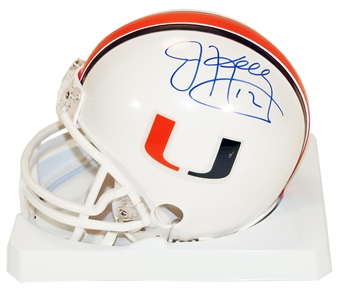 Jim Kelly Autographed University of Miami Hurricanes Football Mini Helmet