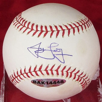 James Loney Autographed Baseball (Stained) (UDA COA)