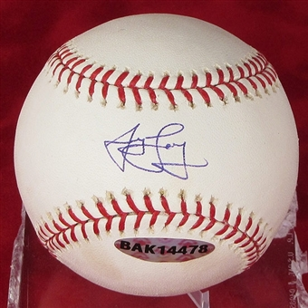 James Loney Autographed Baseball (Near Mint) (UDA COA)