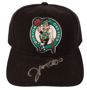 Jerome Moiso Autographed Boston Celtics NBA Draft Hat (Press Pass)