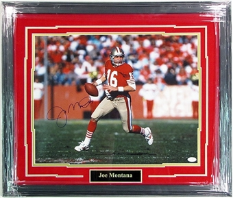 Joe Montana San Francisco 49ers Autographed & Framed 16x20 Photo