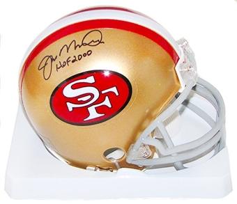 Joe Montana Autographed San Francisco 49ers Mini Football Helmet w/HOF 2000