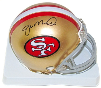 Joe Montana Autographed San Francisco 49ers Mini Football Helmet