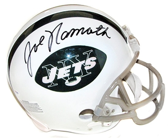Joe Namath Autographed New York Jets Authentic Full Size Football Helmet (Steiner)