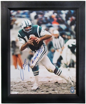 Joe Namath New York Jets Autographed & Framed 16x20 Photo (Steiner COA)