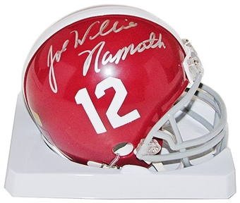Joe Namath Autographed University of Alabama Football Mini Helmet