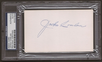 Jocko Conlon Autograph (Index Card) PSA/DNA Certified *7934
