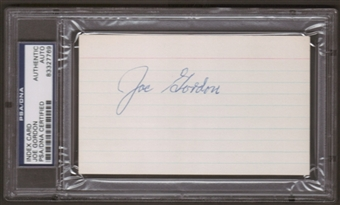 Joe Gordon Autograph (Index Card) PSA/DNA Certified *7769