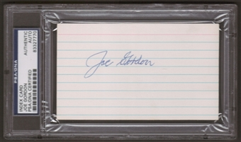 Joe Gordon Autograph (Index Card) PSA/DNA Certified *7770