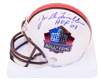 Joe DeLamielleure Autographed Buffalo Bills Hall of Fame Mini Football Helmet