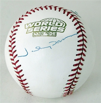 Johnny Damon Autographed 2004 World Series Baseball (MLB COA)