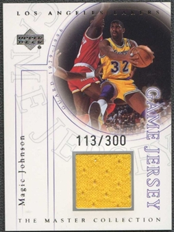 2000 Upper Deck Lakers Master Collection Game Jerseys #EJJ Magic Johnson 113/300