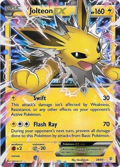 Pokemon Generations Single Jolteon EX 28/83  -  NEAR MINT (NM)