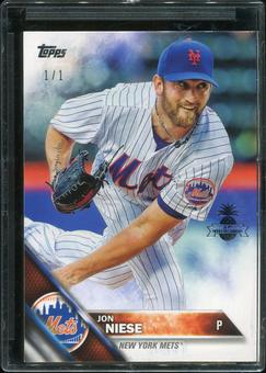 2016 Topps Baseball Hawaii Summit Exclusive #145 Jon Niese 1/1