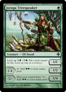 Magic the Gathering Rise of Eldrazi Single Joraga Treespeaker Foil - SLIGHT PLAY (SP)