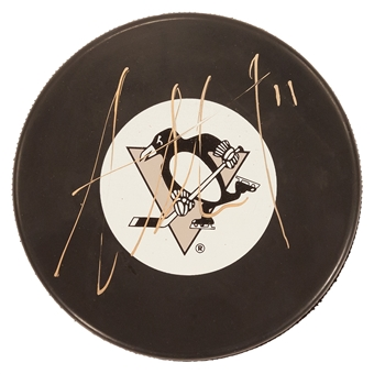 Jordan Staal Autographed Pittsburgh Penguins Hockey Puck Frameworth