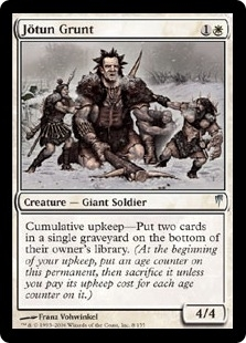 Magic the Gathering Coldsnap Single Jotun Grunt Foil