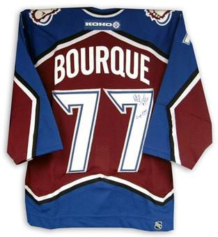 Ray Bourque Autographed Colorado Avalanche Hockey Jersey w/ inscript (JSA)