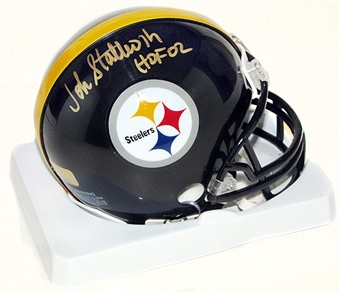 John Stallworth Autographed Pittsburgh Steelers Mini-Helmet