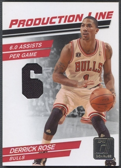 2010/11 Donruss #52 Derrick Rose Production Line Materials Jersey #297/399