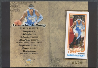 2007/08 Topps #2 Carmelo Anthony All-Star Booklet #889/999