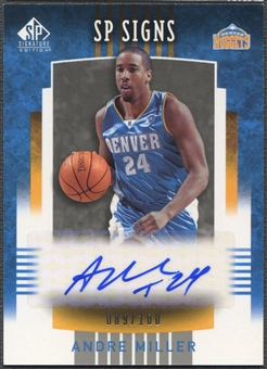 2004/05 SP Signature Edition #AM Andre Miller SP Signs Auto #089/100