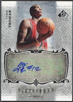 2006/07 SP Signature Edition #TT Tyrus Thomas Signatures Rookie Auto