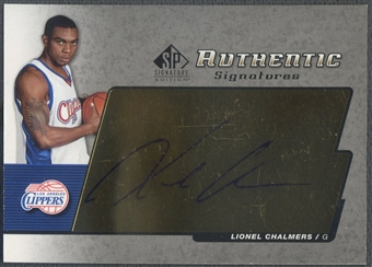 2004/05 SP Signatures #LC Lionel Chalmers Authentic Signatures Rookie Auto